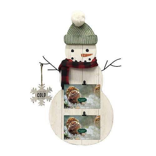 St. Nicholas Square® Snowman 2-Opening Photo Clip Frame