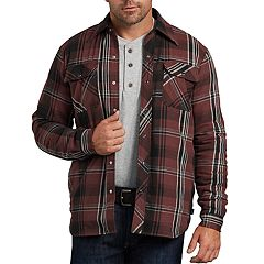 Men's Dickies X-Series Modern-Fit Plaid Snap-Front Shirt Jacket