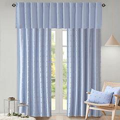 Madison Park Maize Cotton Jacquard Pom Pom Window Curtain