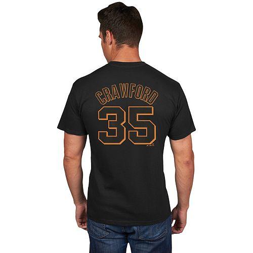Men's Majestic San Francisco Giants Brandon Crawford Name & Number Tee