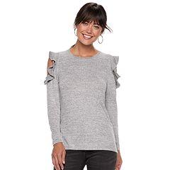 Women's Apt. 9® Cold-Shoulder Ruffle Top