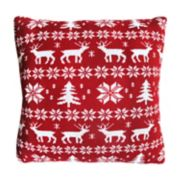 St. Nicholas Square® Deer Fairisle Throw Pillow
