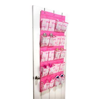 Laura Ashley Lifestyles Kids Pretty Flamingo 16-Pocket Over The Door Shoe Organizer