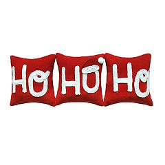 St. Nicholas Square® Ho Ho Ho Throw Pillow 3-piece Set
