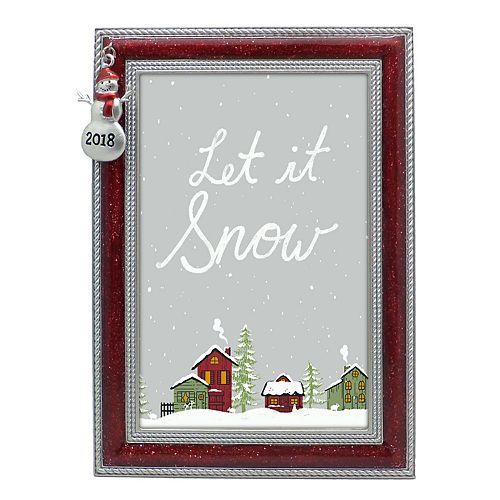"St. Nicholas Square® ""2018"" Snowman 4"" x 6"" Frame"
