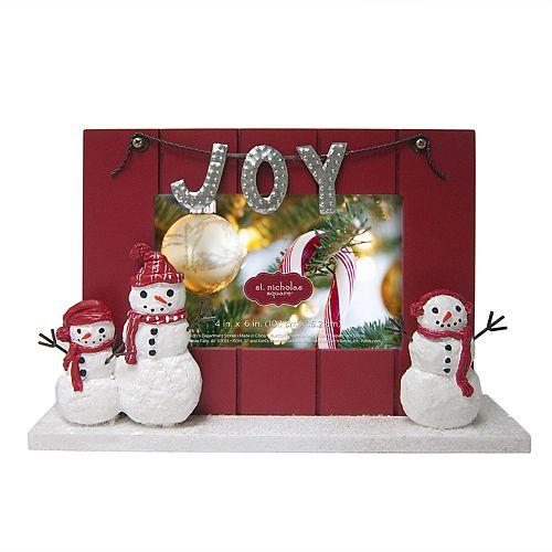 St Nicholas Square 4 X 6 Snowman Christmas Frame
