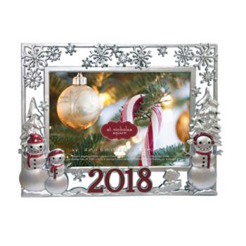 "St. Nicholas Square® ""2018"" 4"" x 6"" Snowman Christmas Frame"