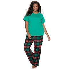 Plus Size SO® 3-piece Tee, Shorts & Pants Pajama Set