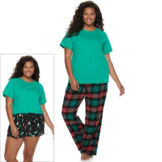 Plus SO® 3-piece Tee, Shorts & Pants Pajama Set