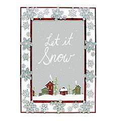 St. Nicholas Square® Glitter Snowflake 5' x 7' Frame