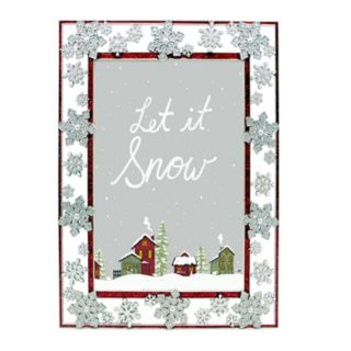 "St. Nicholas Square® Glitter Snowflake 5"" x 7"" Frame"