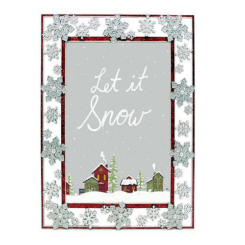 St Nicholas Square Glitter Snowflake 5 X 7 Frame