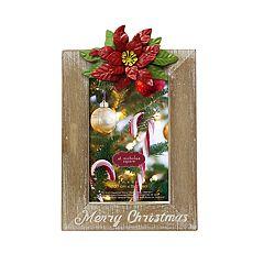 St. Nicholas Square® Poinsettia 4' x 6' Christmas Frame