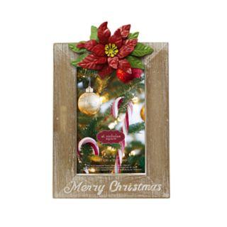 "St. Nicholas Square® Poinsettia 4"" x 6"" Christmas Frame"