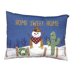 St. Nicholas Square® Southwest Snowman Throw Pillow