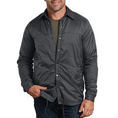 e9d60c44085494 Men s Dickies X-Series Regular-Fit Nylon Shirt Jacket. Charcoal Dark Navy