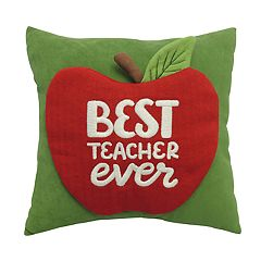 St. Nicholas Square® Apple Teacher Mini Throw Pillow