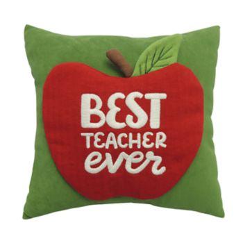 St. Nicholas Square® Apple Teacher Mini Throw Pillow