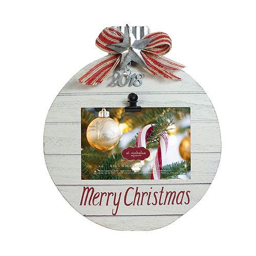 "St. Nicholas Square® ""2018"" Photo Clip Christmas Frame"