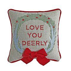 St. Nicholas Square® Love Deerly Mini Throw Pillow