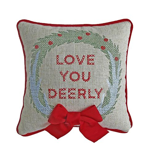 St. Nicholas Square® Love Deerly Mini Throw Pillow