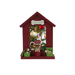 St. Nicholas Square® Dog House 4' x 6' Christmas Frame