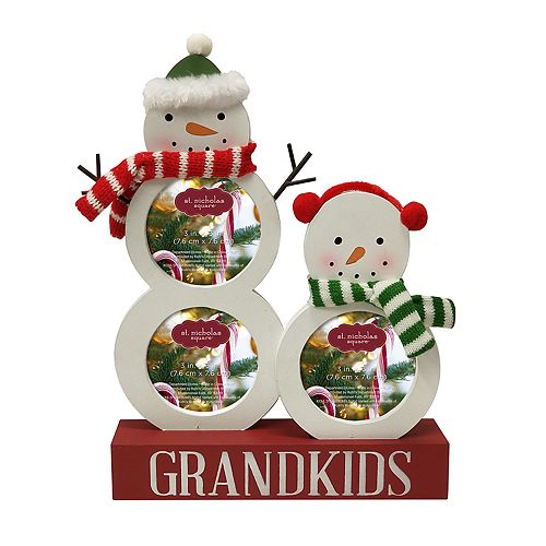 "St. Nicholas Square® ""Grandkids"" 3"" x 3"" 3-Opening Christmas Frame"