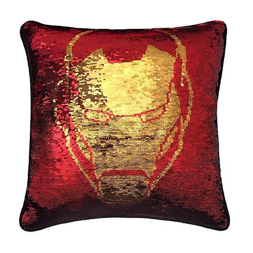 Marvel Avengers Iron Man & Captain America Reversible Sequin Throw Pillow