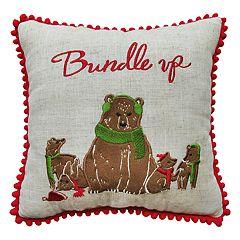 St. Nicholas Square® Bears 'Bundle Up' Throw Pillow