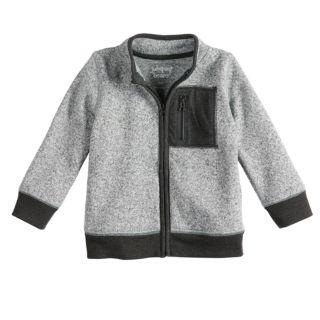 Toddler Boy Jumping Beans® Sweater Fleece Zip Lightweight Jacket