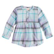 Toddler Girl Jumping Beans® Plaid Flannel Tunic