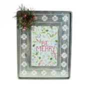 """St. Nicholas Square® 4"""" x 6"""" Snowflake Frame"""