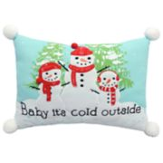 "St. Nicholas Square® ""It's Cold Outside"" Throw Pillow"