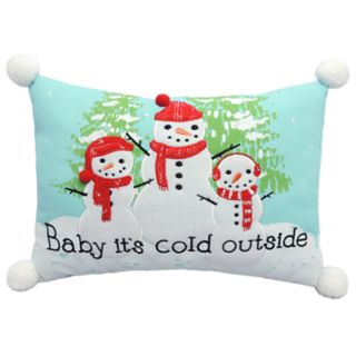 """St. Nicholas Square® """"It's Cold Outside"""" Throw Pillow"""