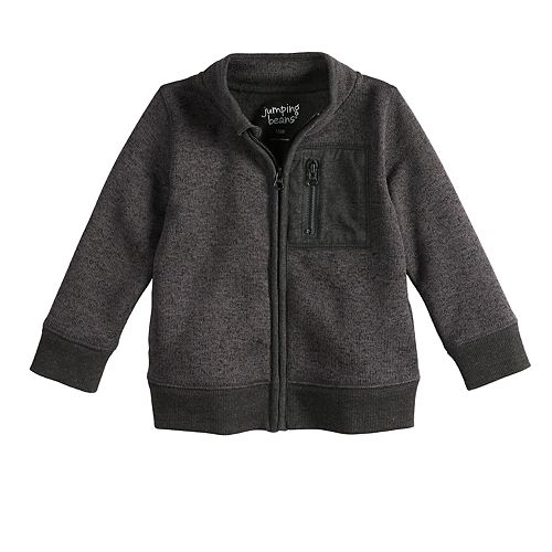 Baby Boy Jumping Beans® Marled Zip Sweater
