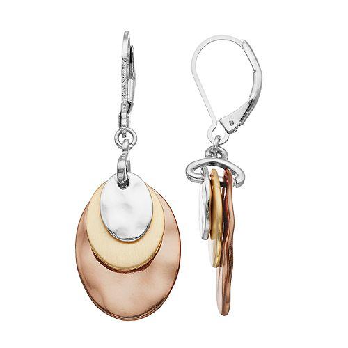 4f78bb77bd7c1 Dana Buchman Hammered Disc Drop Earrings