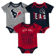 Baby Houston Texans Little Tailgater Bodysuit Set