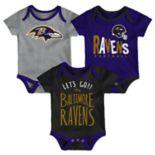 Baby Baltimore Ravens Little Tailgater Bodysuit Set
