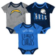 Baby Los Angeles Chargers Little Tailgater Bodysuit Set