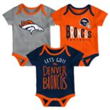 Baby Denver Broncos Little Tailgater Bodysuit Set