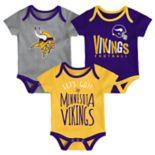 Baby Minnesota Vikings Little Tailgater Bodysuit Set