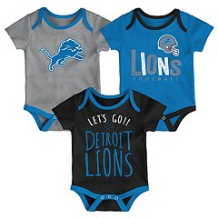 Baby Detroit Lions Little Tailgater Bodysuit Set