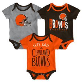Baby Cleveland Browns Little Tailgater Bodysuit Set