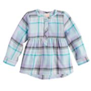 Baby Girl Jumping Beans® Plaid Lurex Tunic