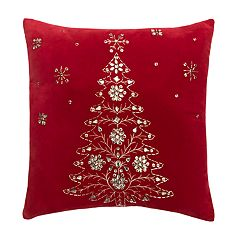 St. Nicholas Square® Tree Beaded Sequin Throw Pillow