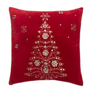 St. Nicholas Square® Tree Beaded Sequin Throw Pillow