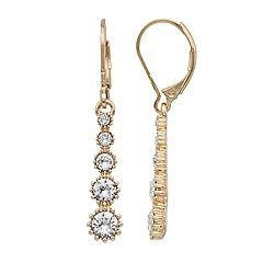 Dana Buchman Crystal Linear Drop Earrings