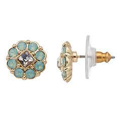 Dana Buchman Crystal Flower Stud Earrings