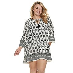 Plus Size Apt. 9® Tassel Tunic Swim Cover-Up