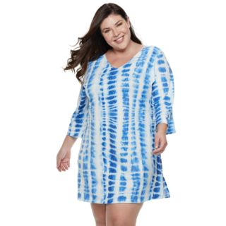 Plus Size Apt. 9® Tie-Dye Strappy-Back Cover-Up